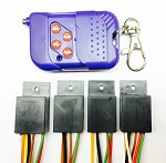 Remote control with built-in decoy timer. (4x Receiver + Remote) 6Volt system